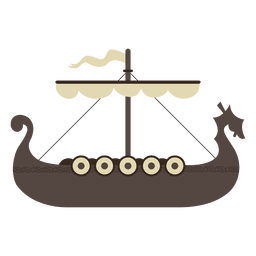 Viking boat ship icon