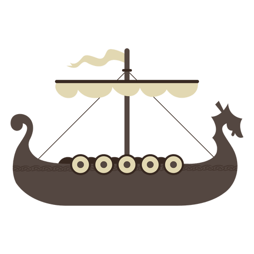 Icono de barco vikingo Transparent PNG
