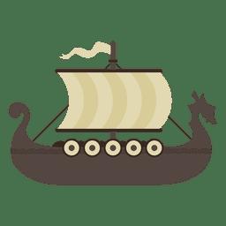 Ilustração de navio barco viking