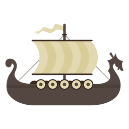 Viking boat ship illustration