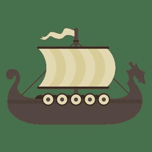 Viking boat ship illustration