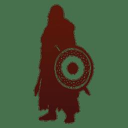 Silueta de guerrero vikingo