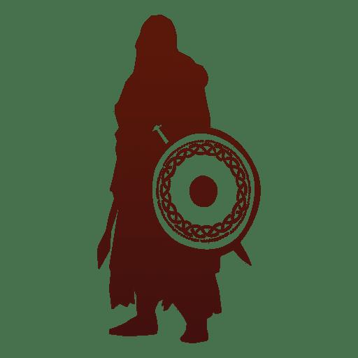 Silueta de guerrero vikingo Transparent PNG