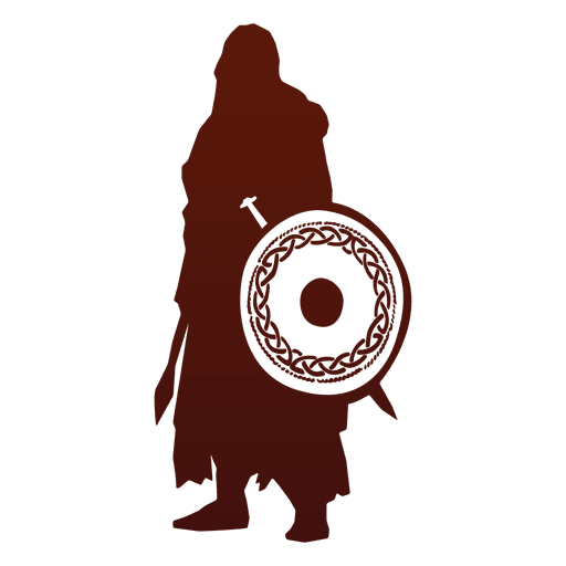 Viking warrior silhouette Transparent PNG