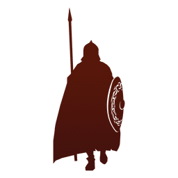 Guerrero silueta vikingo