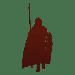 Guerrero vikingo silueta
