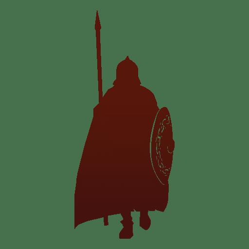 Guerrero silueta vikingo Transparent PNG