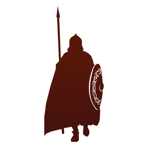 Warrior silhouette viking Transparent PNG