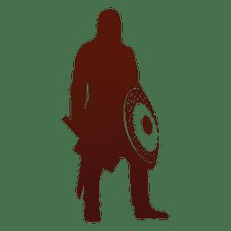 Krieger- und Wikinger-Silhouette