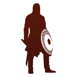 Warrior and viking silhouette