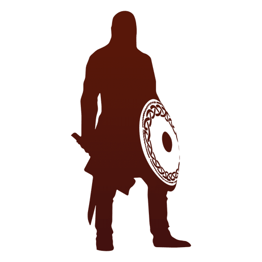 Warrior and viking silhouette Transparent PNG