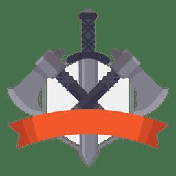 emblema guerra arma