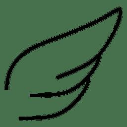 Wing stroke silhouette 01