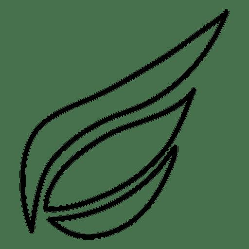 Silueta de trazo de ala 02 Transparent PNG