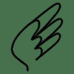 Silueta de trazo ala 03