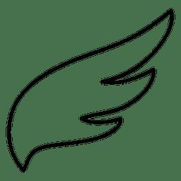 Wing stroke silhouette 04