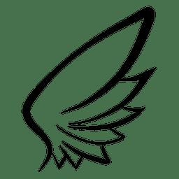 Wing stroke silhouette 05