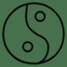 Ying yang stroke symbol