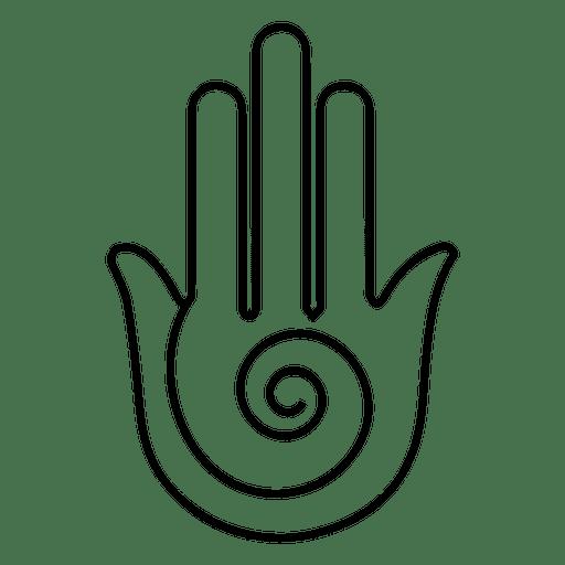 Yoga Hand Stroke Symbol Transparent Png Svg Vector File