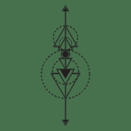 Boho tribal pinstripes Transparent PNG