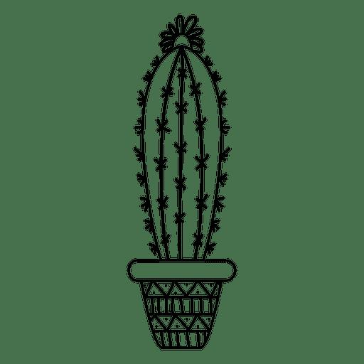 Pote de cacto ornamentado mão desenhada Transparent PNG