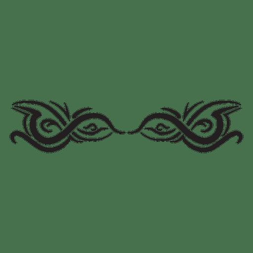 Divider tribal pinstripes Transparent PNG