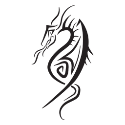 Dragón a rayas tribales