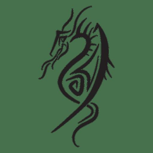 Riscas tribais dragão Transparent PNG