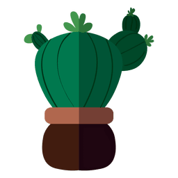 Fat flat cactus pot drawing