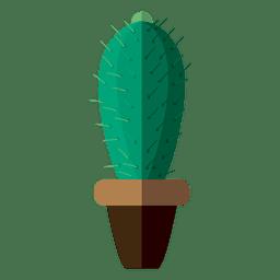 cactus plana dibujo olla
