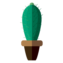 Flat cactus pot drawing