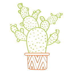Hand drawn watercolor cactus silhouette