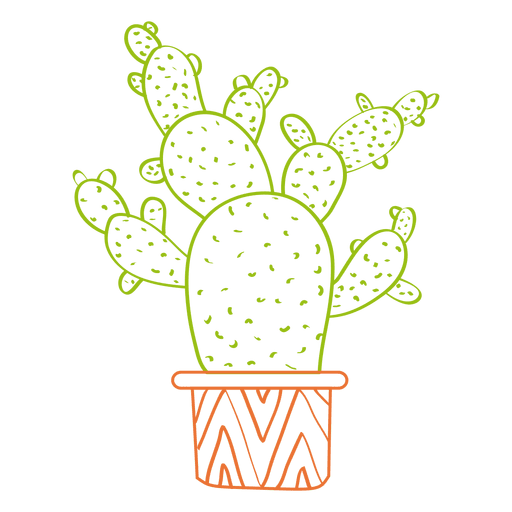 Hand drawn watercolor cactus silhouette png