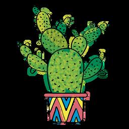 Hand gezeichneter mehrfacher Kaktus des Aquarells