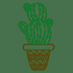 Cactus adornado silueta