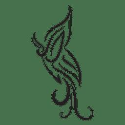 Stammes-Ornament Nadelstreifen Design