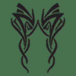 Riscas tribais com formas geométricas
