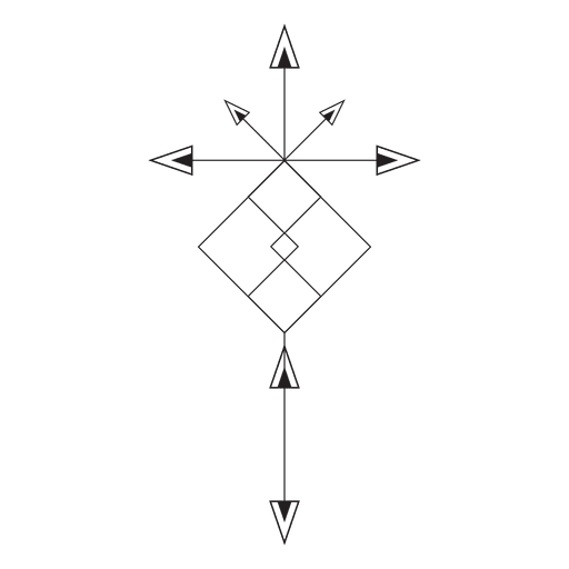Tribal pinstripes illustration Transparent PNG