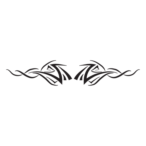 Tribal pinstripes silhouette Transparent PNG