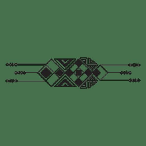 Geometric tribal boho pinstripes Transparent PNG
