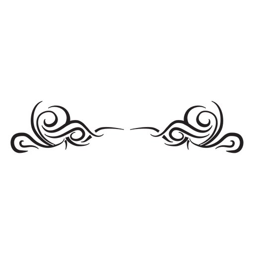 Tribal divider curly pinstripes Transparent PNG