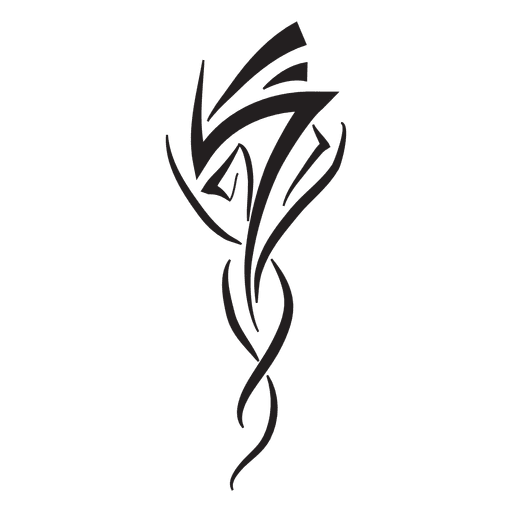 Tribal pinstripes design silhouette Transparent PNG