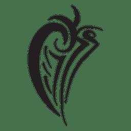 Telas a rayas de alas tribales aisladas