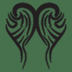 Tribal wings pinstripes