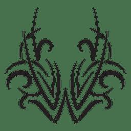 Riscas tribais em estilo simétrico