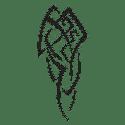 Telas a rayas de ilustración tribal