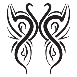 A rayas tribales cisne