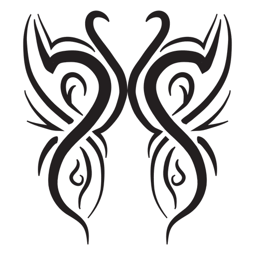 Swan tribal pinstripes Transparent PNG