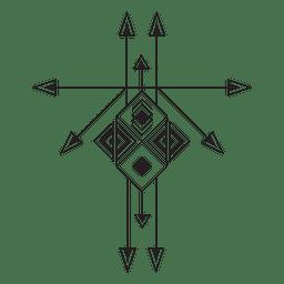 Boho tribal geometric pinstripes