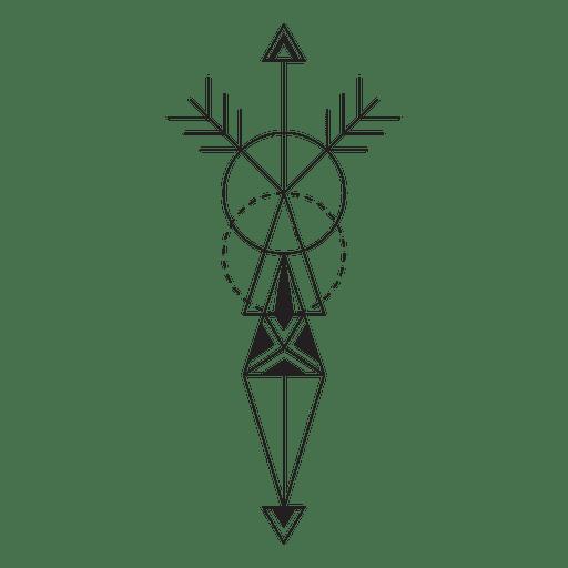 Hipster tribal pinstripes Transparent PNG